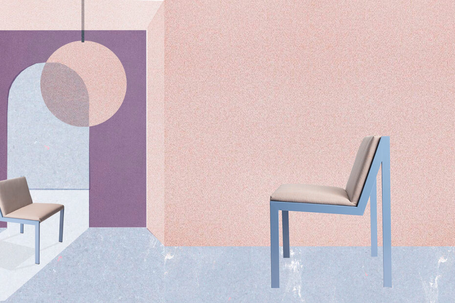Kaksi kulma stulari tuolia